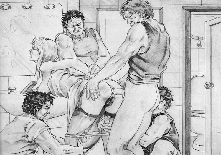 Porn comics pain bdsm pencil drawings