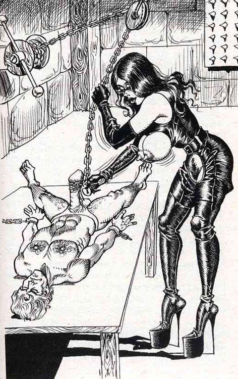 bondage harness cunnilingus