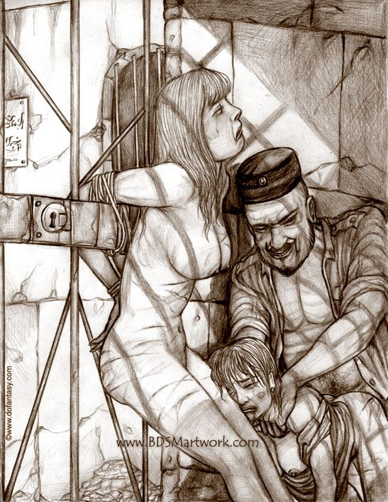 3rd world prisons (Bdsm art by Hines)