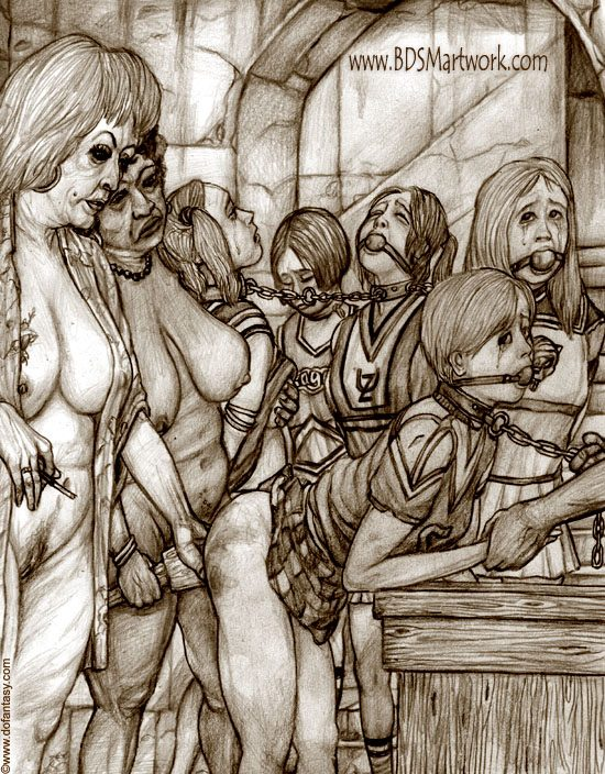 Cheerleaders (BDSM artwork by Hines)